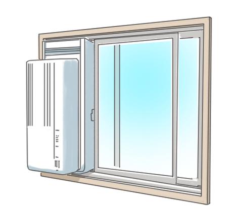 窓用エアコン,注意点,!取り付け,トラブル